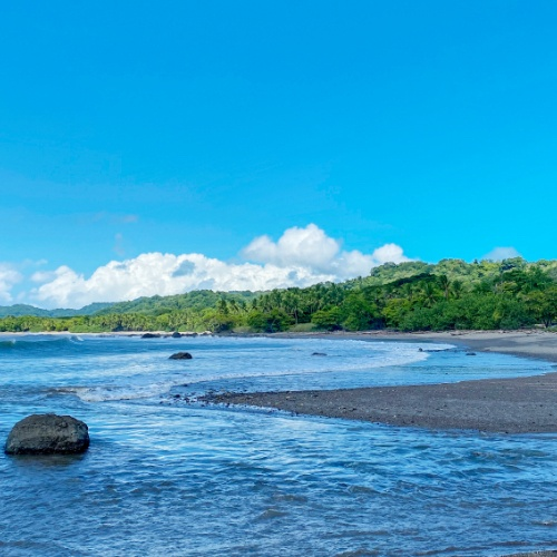 Migelon beach and river